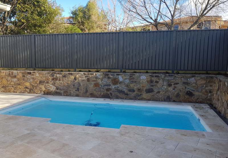 Pool spec colorbond fence