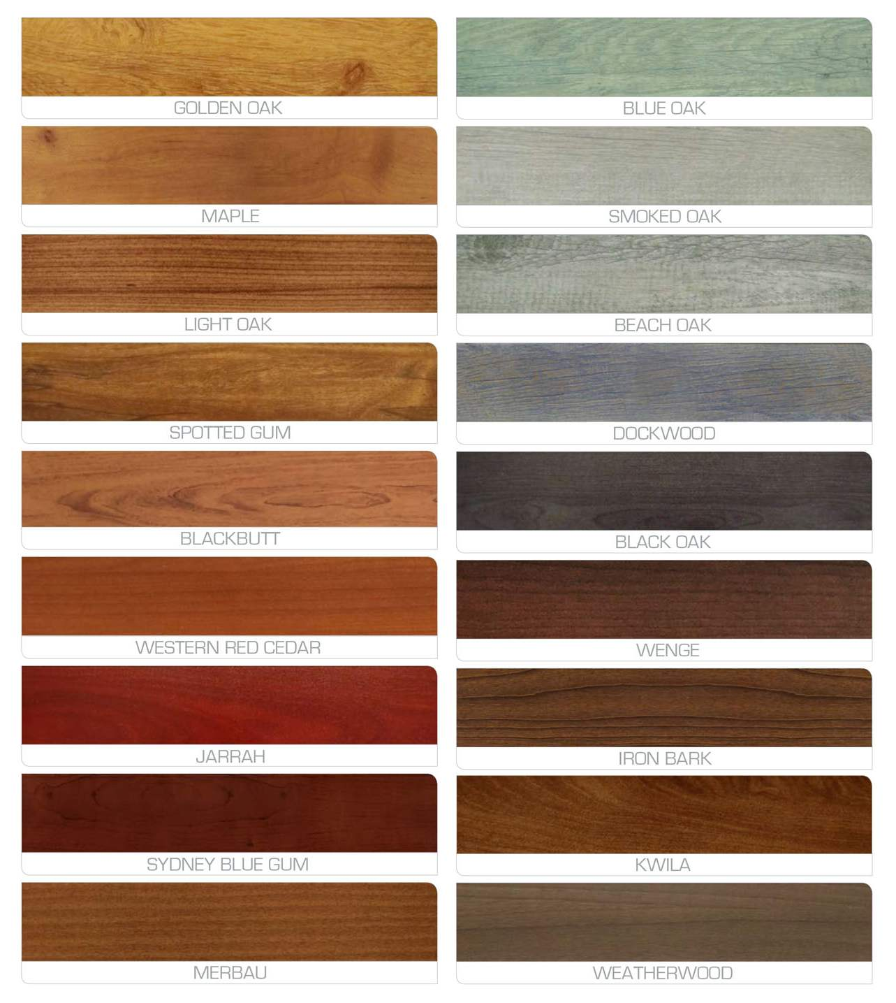 Eurowood Colour Range